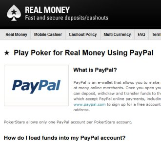 How to transfer money from pokerstars to paypal