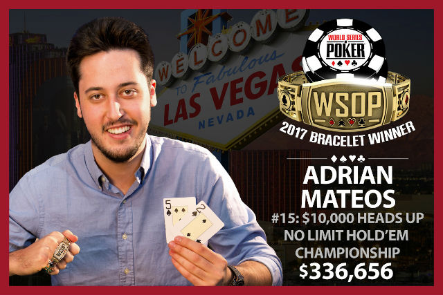 WSOP: Adrian Mateos Becomes Youngest Ever To Win Three Bracelets