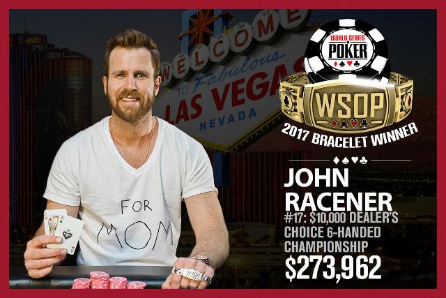 WSOP: John Racener Wins First Bracelet, Millionaire Maker Underway