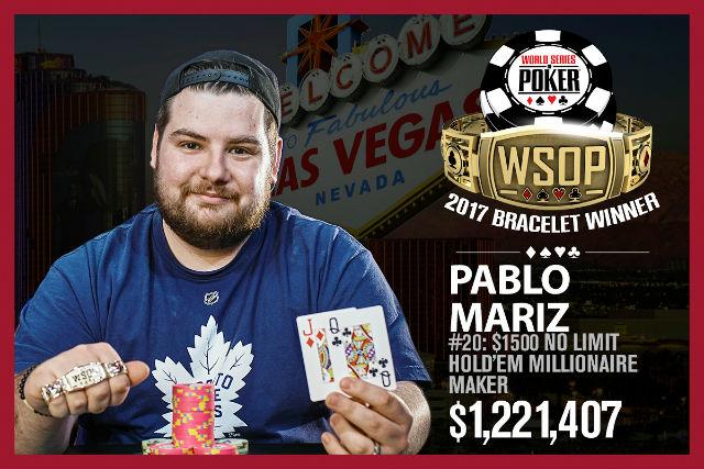 WSOP: Mariz Takes Down Millionaire Maker; Obst Leads $10K Razz