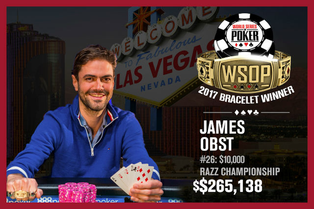 WSOP: James Obst Breaks Through for First Bracelet in $10K Razz