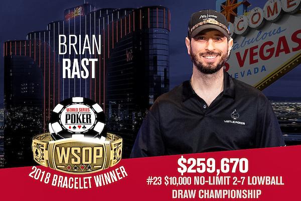 Brian Rast WSOP 2018