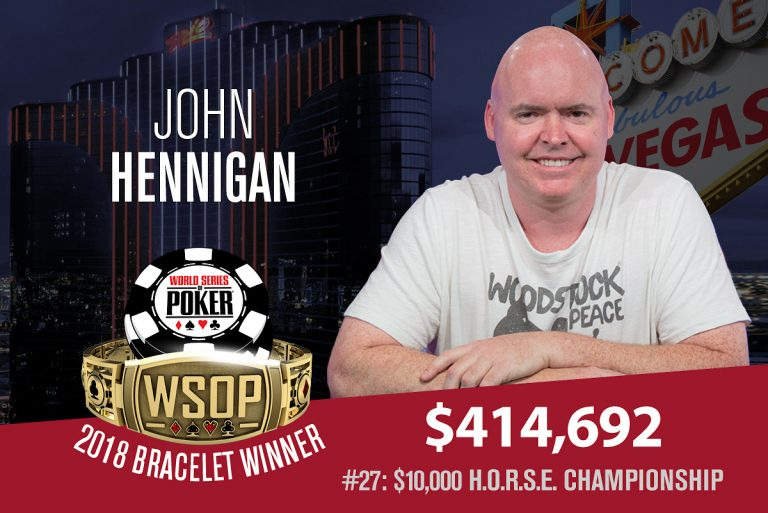 John Hennigan Leads WSOP Player of the Race Into The Main Event