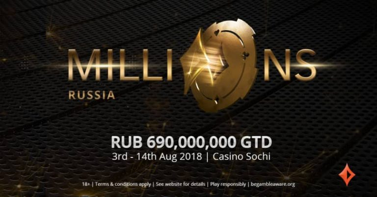 partypoker MILLIONS LIVE Travels to Casino Sochi