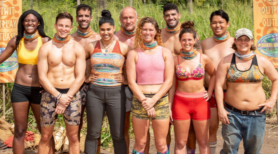 Ronnie Bardah and some of his fellow castaways for Season 39 of Survivor