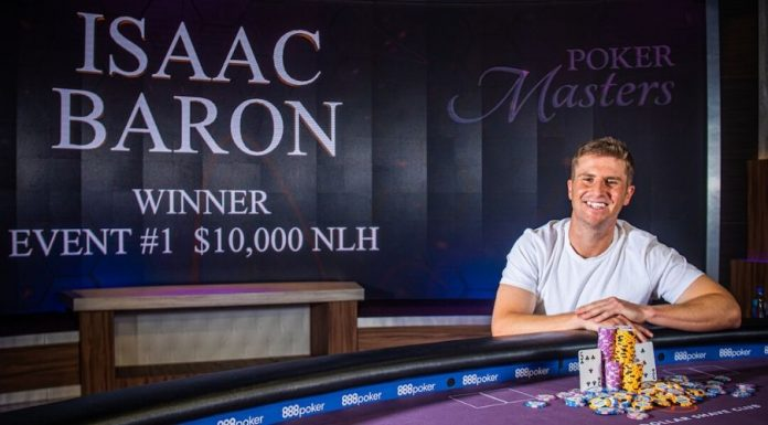 Isaac Baron wins first event of 2019 Poker Masters