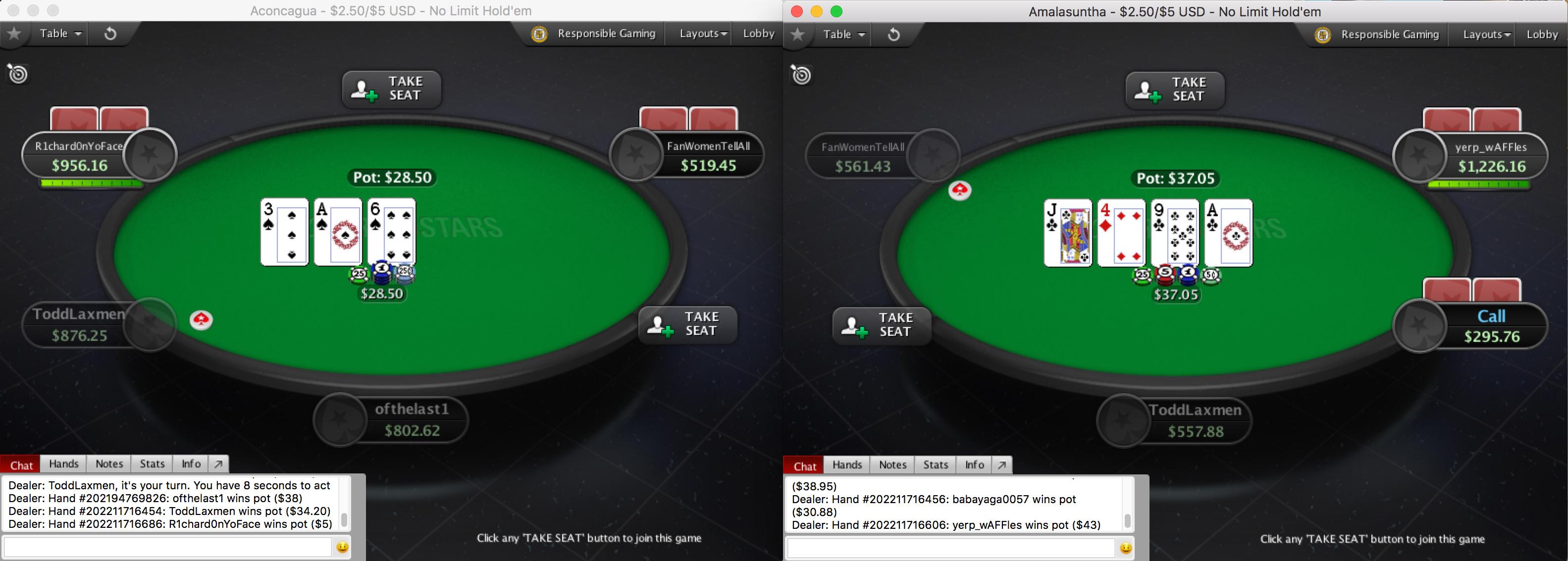 Pokerstars Live Blog