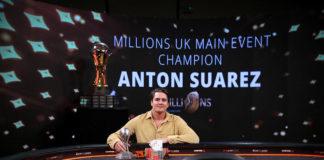 Anton Suarez won the partypoker MILLIONS UK for $1,000,000