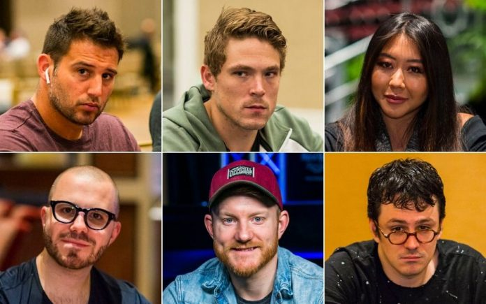 Darren Elias, Alex Foxen, Mario Ho, Dan Smith, Jason Koon, and Isaac Haxton