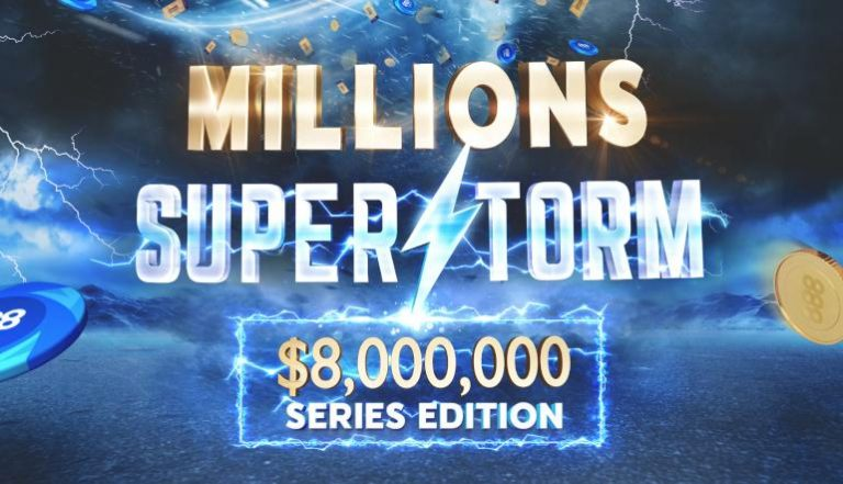 888poker's Millions Superstorm Returns With $8M Guaranteed