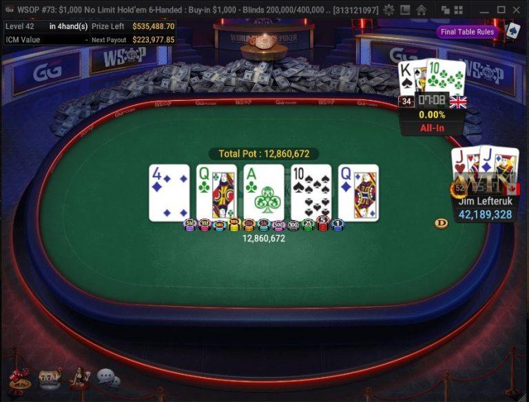 WSOP: Jim Lefteruk's First Series Cash Good for $299K, Bracelet