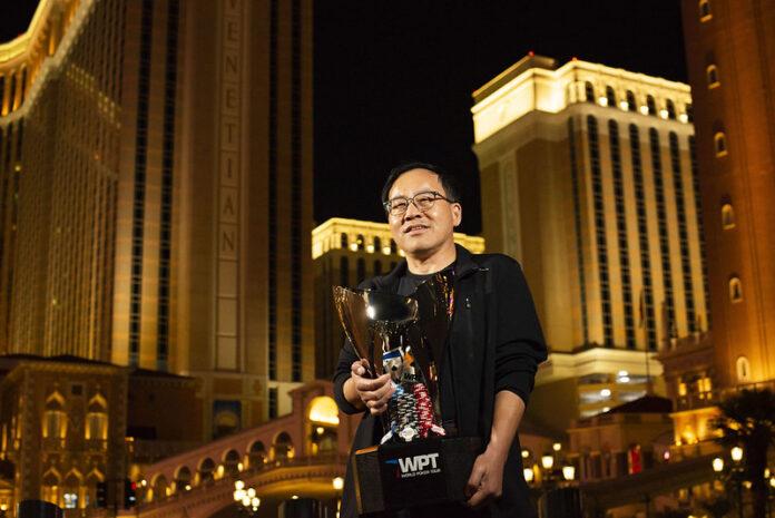 qing liu world poker tour venetian 2021