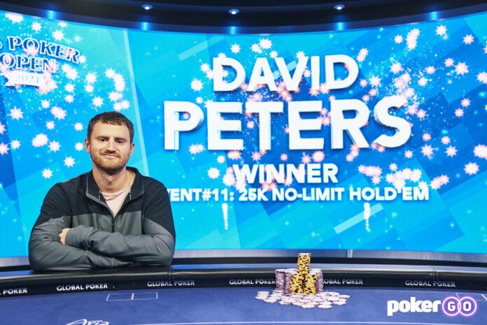David Peters 2021 US poker open champ