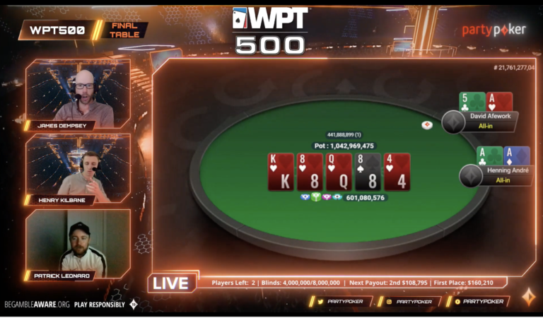 WPT500 Online Champ David Afework Disqualified by partypoker